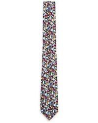 mehrfarbige Krawatte mit Blumenmuster