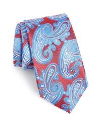 mehrfarbige Krawatte mit Paisley-Muster