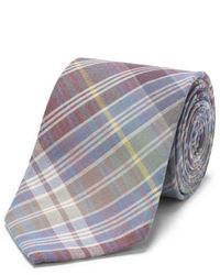 mehrfarbige Krawatte mit Schottenmuster