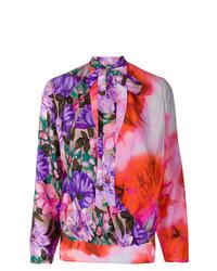 mehrfarbige Langarmbluse mit Blumenmuster von MSGM