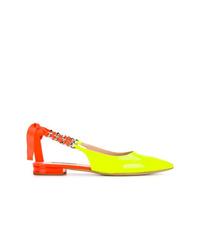 mehrfarbige Leder Ballerinas von Casadei