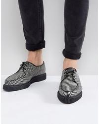 mehrfarbige Leder Derby Schuhe