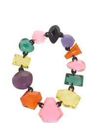 mehrfarbige Leder Halskette von Monies