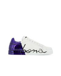 mehrfarbige Leder niedrige Sneakers von Dolce & Gabbana