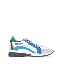 mehrfarbige Leder niedrige Sneakers von DSQUARED2