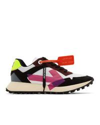 mehrfarbige Leder niedrige Sneakers von Off-White