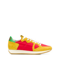 mehrfarbige Leder niedrige Sneakers von Philippe Model
