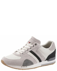 mehrfarbige Leder niedrige Sneakers von Tommy Hilfiger