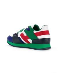 mehrfarbige Leder niedrige Sneakers von Versace
