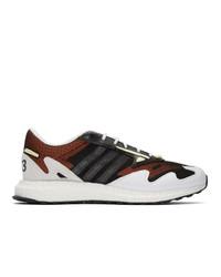 mehrfarbige Leder niedrige Sneakers von Y-3