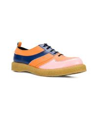 mehrfarbige Leder Oxford Schuhe