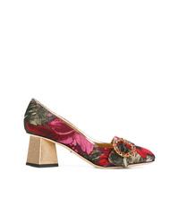 mehrfarbige Leder Pumps mit Blumenmuster von Dolce & Gabbana