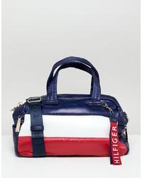 mehrfarbige Leder Reisetasche von Tommy Hilfiger