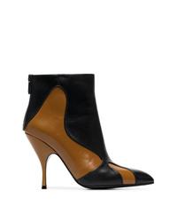 mehrfarbige Leder Stiefeletten von Bottega Veneta