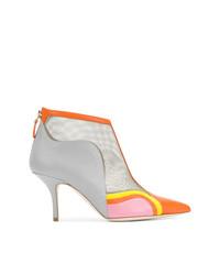 mehrfarbige Leder Stiefeletten von Malone Souliers