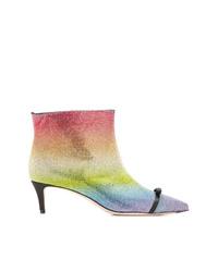 mehrfarbige Leder Stiefeletten von Marco De Vincenzo