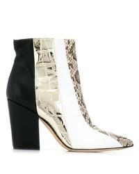 mehrfarbige Leder Stiefeletten von Sergio Rossi