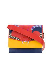mehrfarbige Leder Umhängetasche von Paula Cademartori