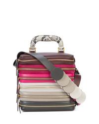 mehrfarbige Lederhandtasche von Anya Hindmarch
