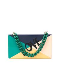 mehrfarbige Lederhandtasche von Edie Parker