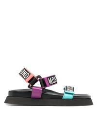 mehrfarbige Ledersandalen von Moschino