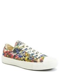 827a9df17c5f3c Modische mehrfarbige niedrige Sneakers mit Blumenmuster für Damen ...