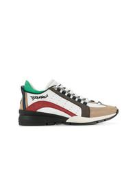 mehrfarbige niedrige Sneakers von DSQUARED2
