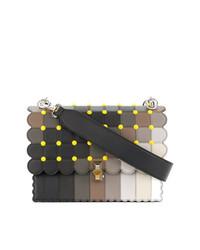 mehrfarbige Satchel-Tasche aus Leder von Fendi