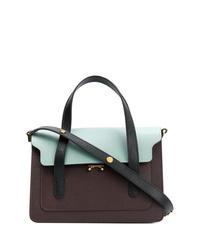 mehrfarbige Satchel-Tasche aus Leder von Marni