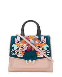 mehrfarbige Satchel-Tasche aus Leder von Paula Cademartori