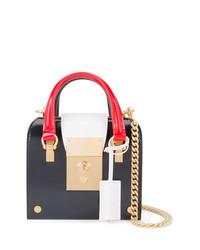 mehrfarbige Satchel-Tasche aus Leder von Thom Browne
