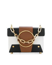 mehrfarbige Satchel-Tasche aus Leder von Yuzefi