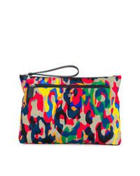 mehrfarbige Segeltuch Clutch Handtasche