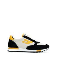 mehrfarbige Segeltuch niedrige Sneakers