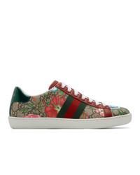 mehrfarbige Segeltuch niedrige Sneakers von Gucci