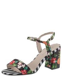 mehrfarbige Segeltuch Sandaletten mit Blumenmuster von Bruno Banani