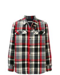 mehrfarbige Shirtjacke mit Karomuster