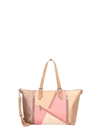 mehrfarbige Shopper Tasche aus Leder von Desigual
