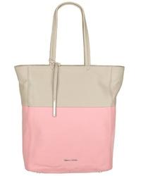 mehrfarbige Shopper Tasche aus Leder von Marc O'Polo