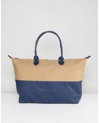 mehrfarbige Shopper Tasche aus Leder von Mi-pac