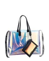 mehrfarbige Shopper Tasche aus Leder von Tommy Hilfiger