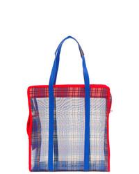mehrfarbige Shopper Tasche aus Segeltuch von P.A.R.O.S.H.