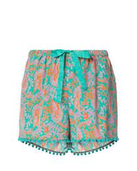 mehrfarbige Shorts mit Paisley-Muster von Figue