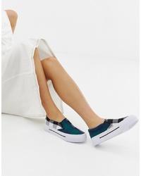 mehrfarbige Slip-On Sneakers mit Karomuster von ASOS DESIGN