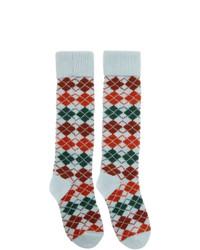 mehrfarbige Socken mit Argyle-Muster
