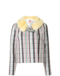 mehrfarbige Tweed-Jacke