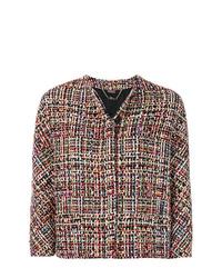mehrfarbige Tweed-Jacke von Alexander McQueen