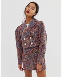 mehrfarbige Tweed-Jacke von ASOS DESIGN