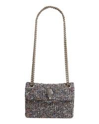 mehrfarbige Tweed Satchel-Tasche