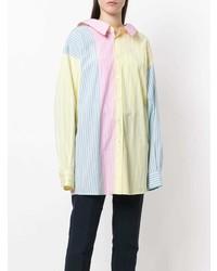mehrfarbige vertikal gestreifte Bluse mit Knöpfen von Marni